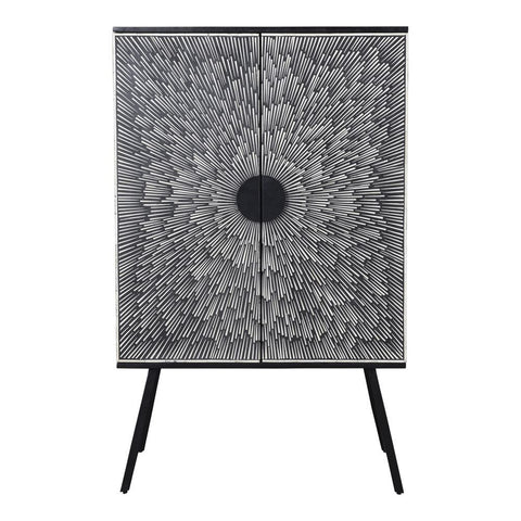 Moes Home Sunburst Wine Cabinet