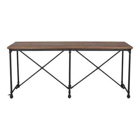 Moes Home Tavern Counter Table in Grey
