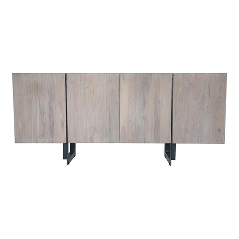 Moes Home Tiburon Sideboard Large Pale in Light Grey