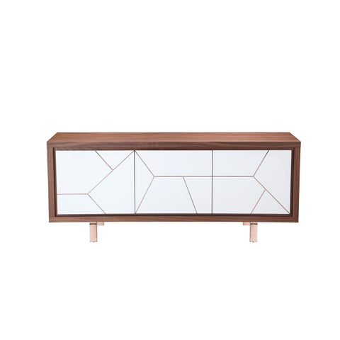 Moes Home Trapeze Sideboard Brown