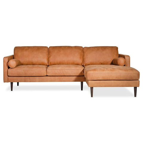 Moes Home Unwind Sectional Gingersnap Right