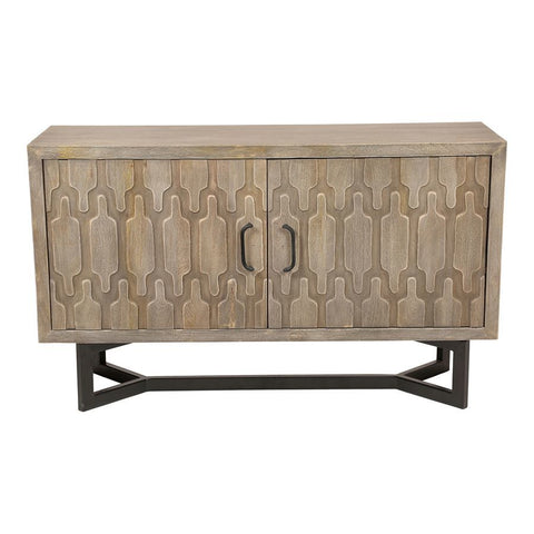 Moes Home West Sideboard in Light Grey