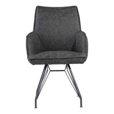 Moes Home Wilson Arm Chair in Charcoal Grey