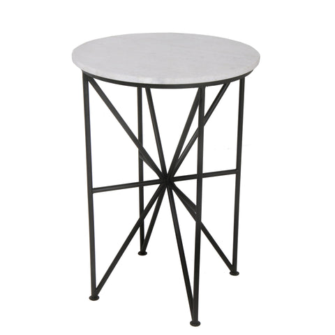 Moes Quadrant Glass Accent Table