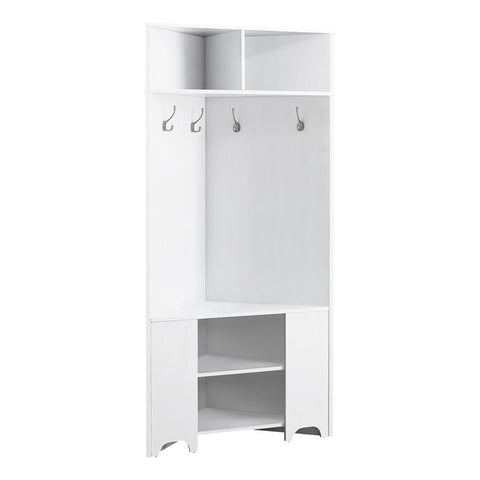 "Monarch I 2772 Hall Tree - 67""H / White Corner Unit"