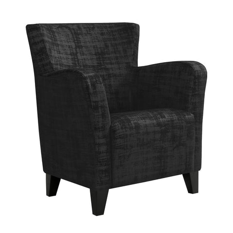 Monarch I 8219 Accent Chair - Black Brushed Velvet Fabric