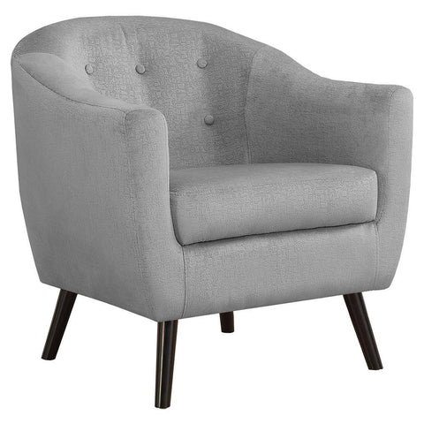Monarch I 8258 Accent Chair - Grey Mosaic Velvet