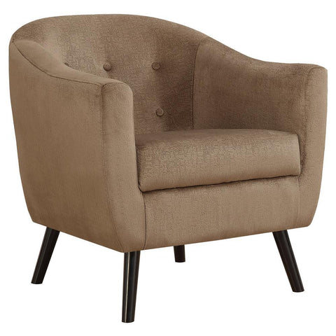 Monarch I 8259 Accent Chair - Light Brown Mosaic Velvet