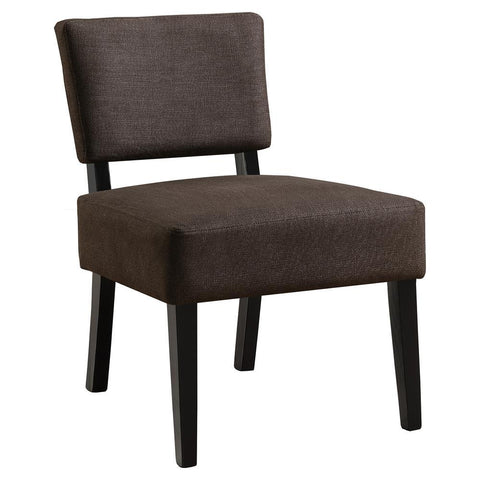 Monarch I 8275 Accent Chair - Dark Brown Fabric