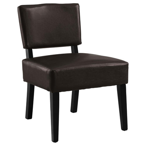 Monarch I 8284 Accent Chair - Dark Brown Leather-Look Fabric
