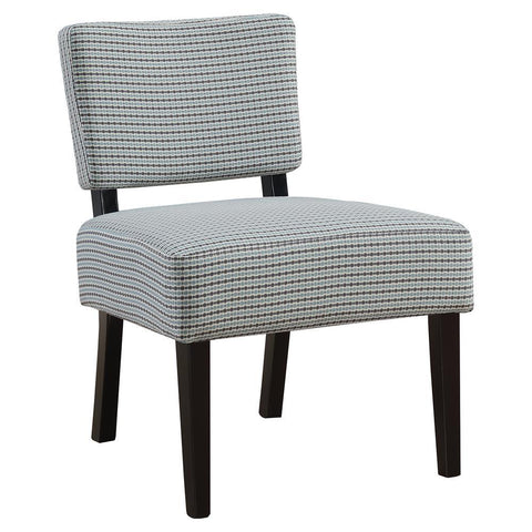 Monarch I 8288 Accent Chair - Light Blue / Grey Abstract Dot Fabric