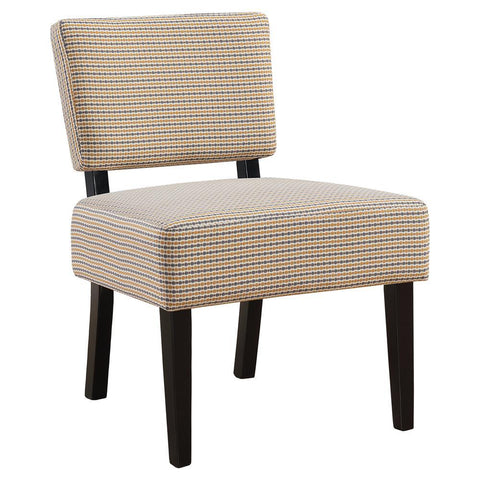 Monarch I 8290 Accent Chair - Gold / Grey Abstract Dot Fabric