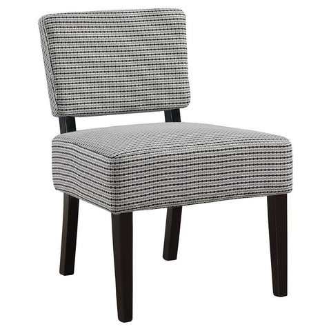 Monarch I 8291 Accent Chair - Light Grey / Black Abstract Dot Fabric
