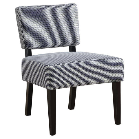 Monarch I 8292 Accent Chair - Light / Dark Blue Abstract Dot Fabric