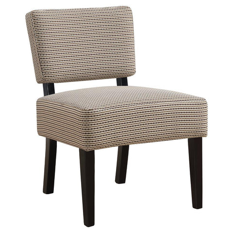 Monarch I 8293 Accent Chair - Light / Dark Brown Abstract Dot Fabric