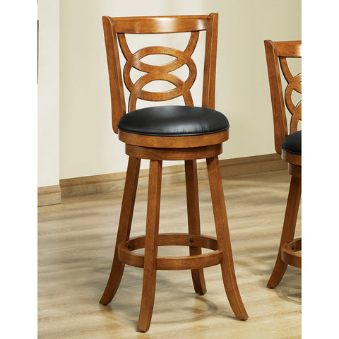 Monarch Specialties 1251 Swivel Barstool in Dark Oak