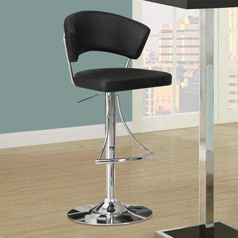 Monarch Specialties 2300 Hydraulic Lift Barstool in Black & Chrome