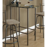 Monarch Specialties 2315 Marble Top Spacesaver Bar Table in Cappuccino