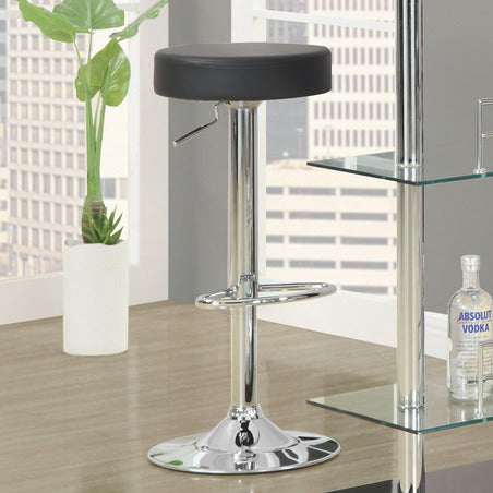 Monarch Specialties 2369 Hydraulic Lift Barstool in Black & Chrome