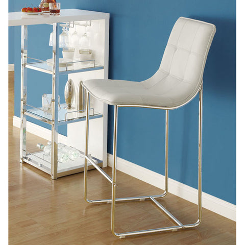 Monarch Specialties 2379 Barstool in White & Chrome