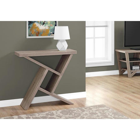 Monarch Specialties 2404 Accent Table in Dark Taupe