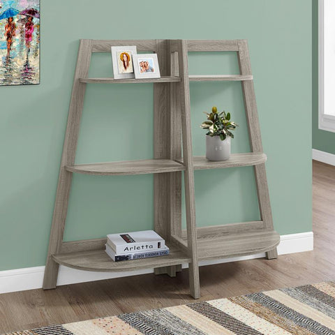 Monarch Specialties 2428 48 Inch Dark Taupe Accent Etagere