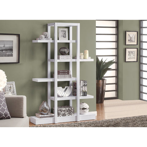 Monarch Specialties 2561 Open Concept Display Etagere in White