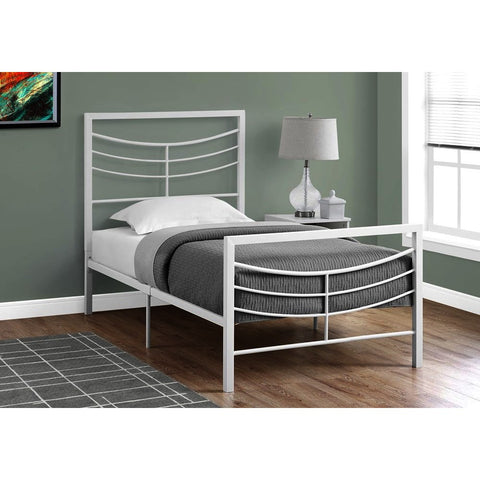 Monarch Specialties 2640 Metal Bed Frame in White