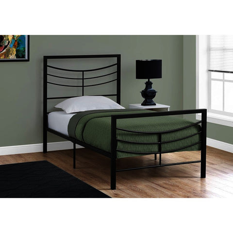 Monarch Specialties 2641 Metal Bed Frame in Black