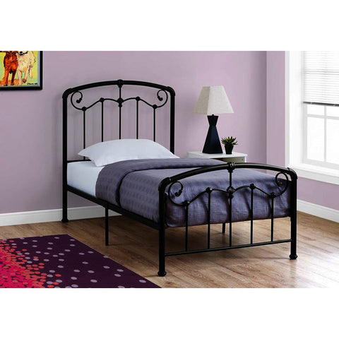 Monarch Specialties 2646T Twin Metal Bed Frame in Black