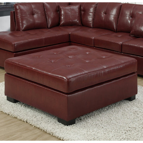 Monarch Specialties 8361RD Ottoman in Red