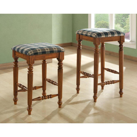 Monarch Specialties Barstool 2 Piece In Dark Oak