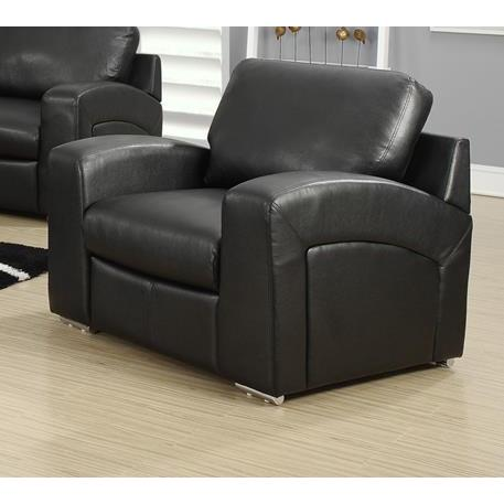 Monarch Specialties Black Bonded Leather Match Chair I 8501BK