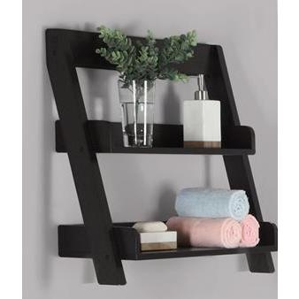 Monarch Specialties Cappuccino Wall Mount Shelf I 3436