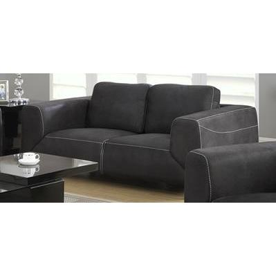 Monarch Specialties Charcoal Grey Light Grey Contrast Micro-Suede Love Seat I 8512GY