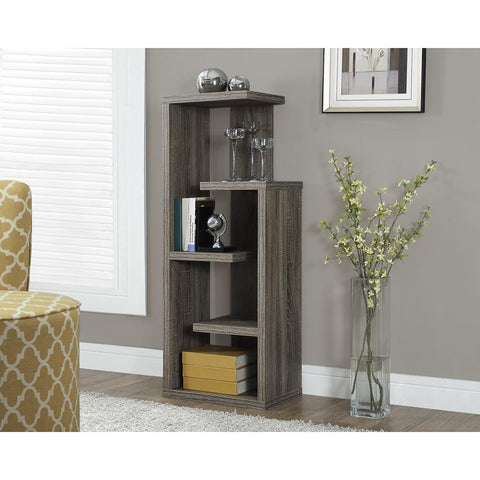 Monarch Specialties Dark Taupe Reclaimed-Look Accent Display Unit I 2467