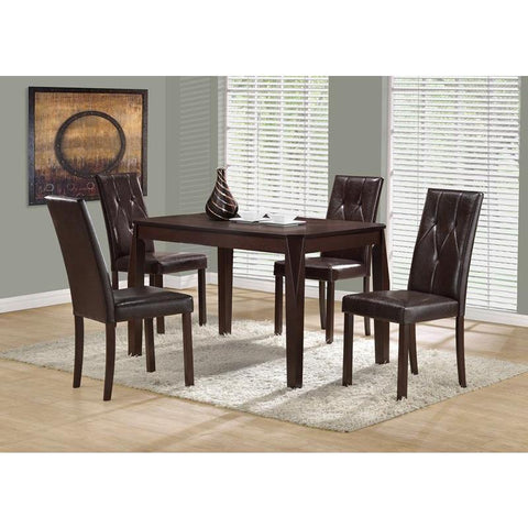 "Monarch Specialties Dining Chair - (set Of Two) / 38""h / Dark Brown Seat"