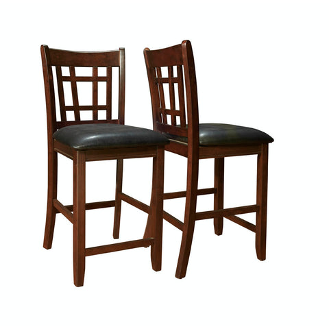 Monarch Specialties I 1156 Cappuccino / Black Leather-Look 41 Inch Pub Chair