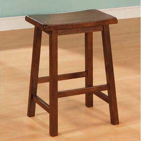 Monarch Specialties I 1541 Walnut 24 Inch Saddle Seat Barstool