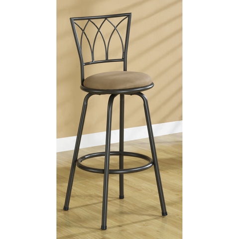 Monarch Specialties I 2393 Dark Coffee Metal 43 Inch Swivel Barstool