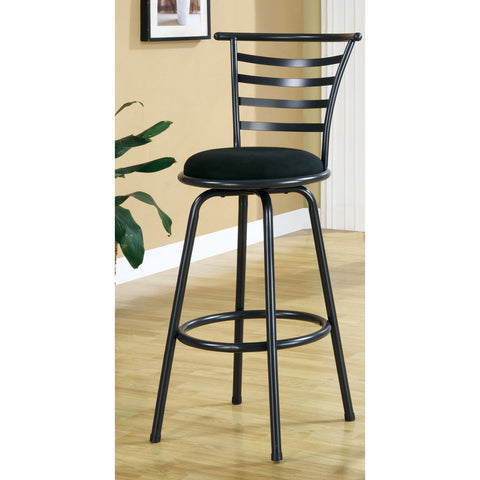 Monarch Specialties I 2396 Silver Grey Metal 43 Inch Swivel Barstool