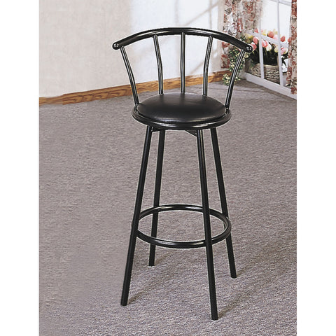 Monarch Specialties I 2398 Black 43 Inch Swivel Barstool