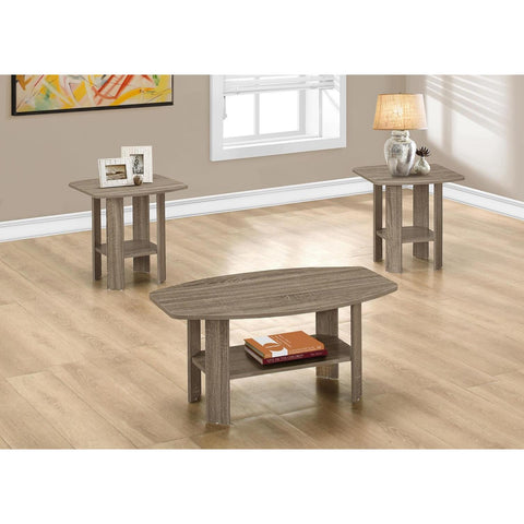 Monarch Specialties I 7927P 3 Piece Table Set