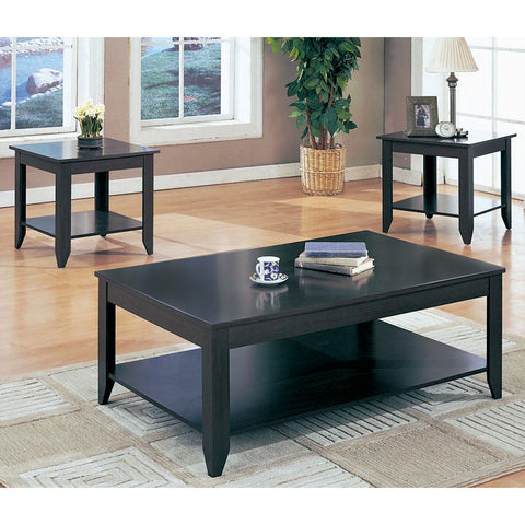 Monarch Specialties I 7985 Cappuccino 3 Piece Coffee Table Set