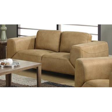Monarch Specialties Tan Chocolate Brown Contrast Micro-Suede Love Seat I 8512TN
