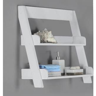 Monarch Specialties White Wall Mount Shelf I 3439