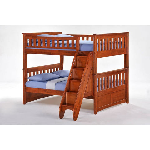 Night and Day Ginger Full over Full Bunk Bed w/ Storage Stairs