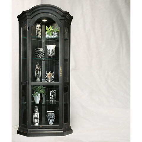 Philip Reinisch Color Time Panorama Corner Display Cabinet In Pirate Black