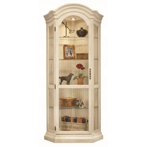 Philip Reinisch Color Time Panorama Corner Display Cabinet In Sandshell White