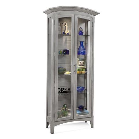Philip Reinisch Color Time Pierport Display Cabinet in Weathered Grey